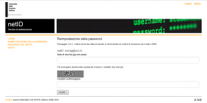 Password perduta